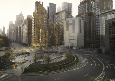 Silent world - Columbus circle, New York, USA, 2009
